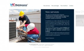 Conception du site internet de l'entreprise VFC Maintenance