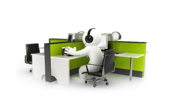 Mascotte 3D pour sociétés: Call/contact center