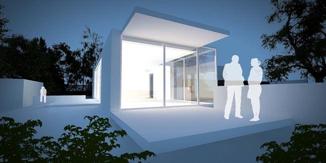 """Perspective 3D de type """"avant-projet"""" réalisé pour le Bureau d'architectes Luc Spits"""