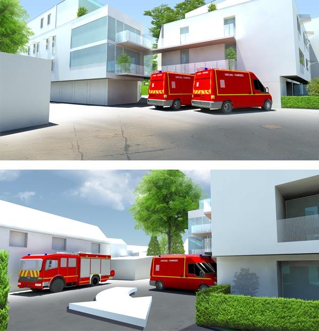 Illustration 3D d'architecture: aide au permis.